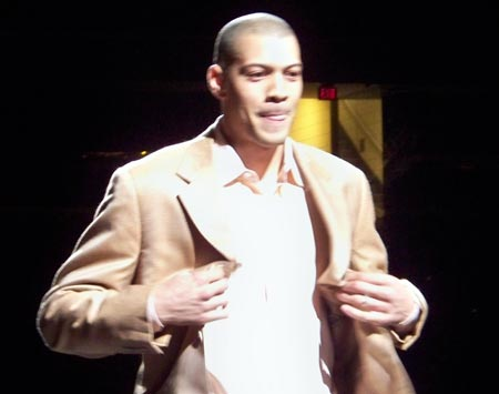 Cleveland Cavalier Anthony Parker on the runway
