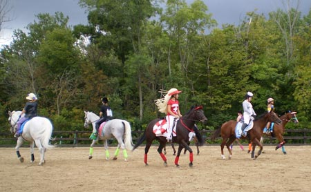Valley Riding students and horses performing to The Beach Boys at the Valley Riding Horse Festival on August 23, 2009.