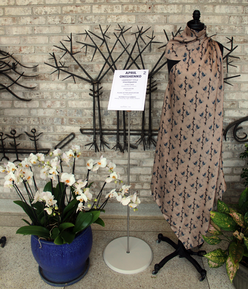 Dress designs from the Kent State School of Fashion at Orchid Mania's Fashion Meets the Botanicals