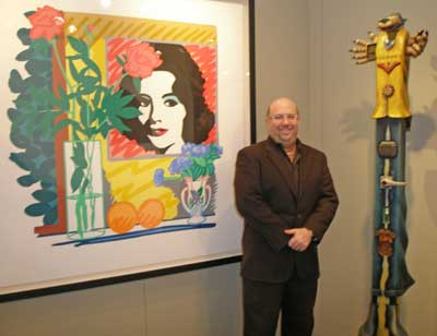 Contessa owner Steve Hartman in the Gallery