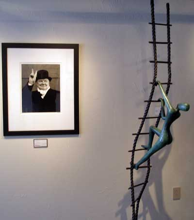 Winston Churchill Photo and Sculpture in The Contessa Gallery