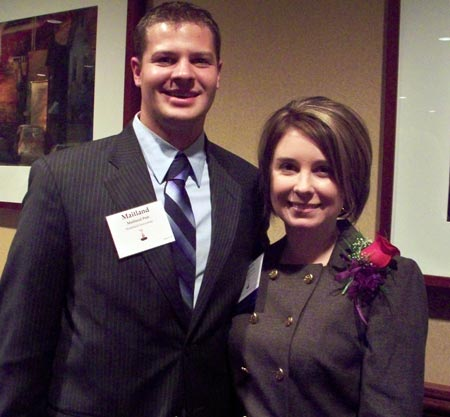 Maitland Peet with Athena Award Young Professional Winner Katie Herbst