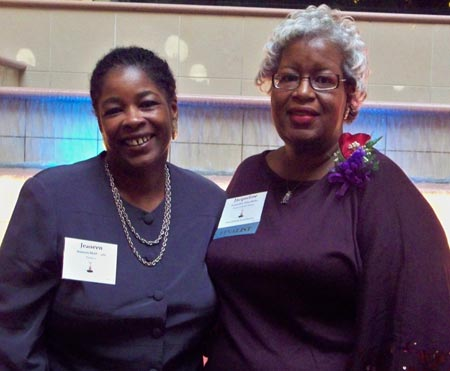 Jeaneen McDaniels and Athena Award winner Jacqueline Silas-Butler - all photos by Debbie Hanson