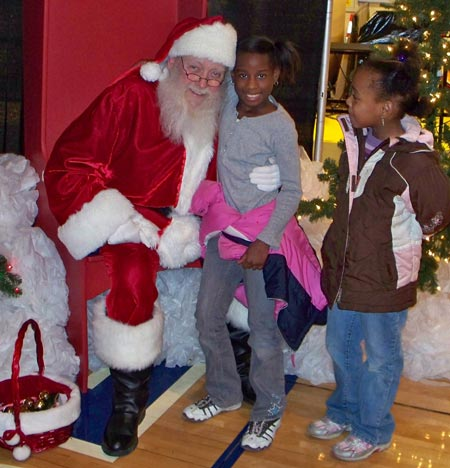 Santa Claus at Quicken Loans Arena