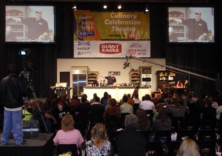 Cooking demonstration at Fabulous Food Show