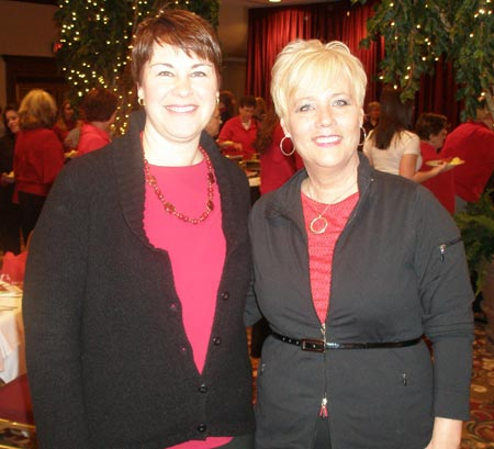 Laurie Ayers and Sharon Ward at 2009 Lake County Wear Red for Women Breakfast - photos by Debbie Hanson