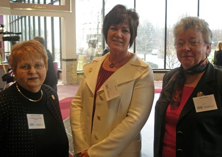 Madeline Brookshire, Judy Carey and Sue Adams  all with Cuyahoga County Public Library