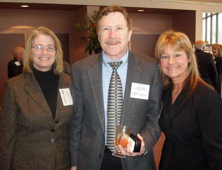 Sue McConnell  of Better Business Bureau with Cary and Barb Root of  ALG Computer Training