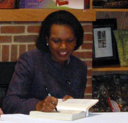 Dr. Condoleezza Condi Rice signing books in Cleveland Ohio