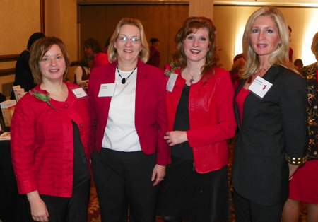 Barb Demagall, Lori Kingston, Robin Rowell and Susan Bitting of University Hospital
