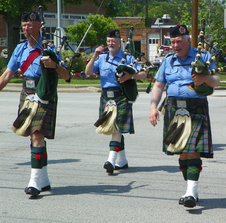 Cleveland Kiltie Band Pipers