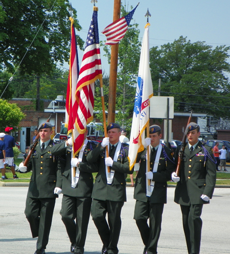 Color Guard at University Heights Memorial Day Parade