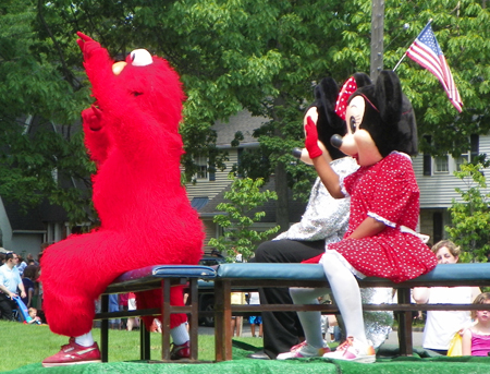 Elmo and Minnie Mouse