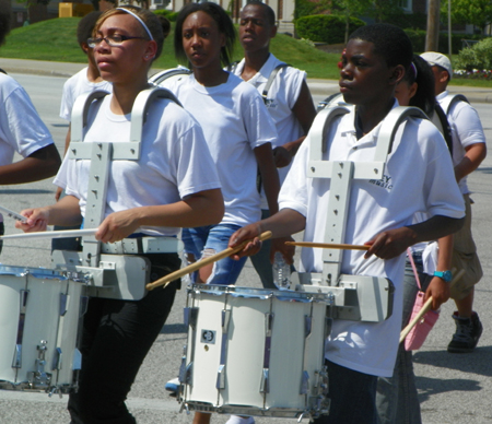 Wiley Middle School drummers