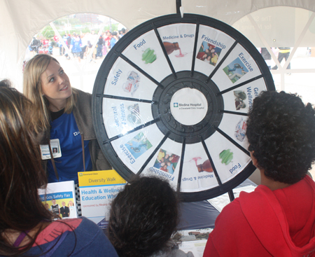 Health wheel at Cleveland Clinic booth