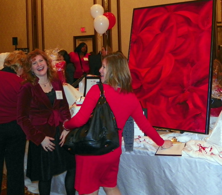 Go Red for Women auction fun