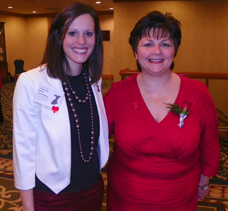 Megan Quinn and Denise Tomachko, Chairperson for Go Red