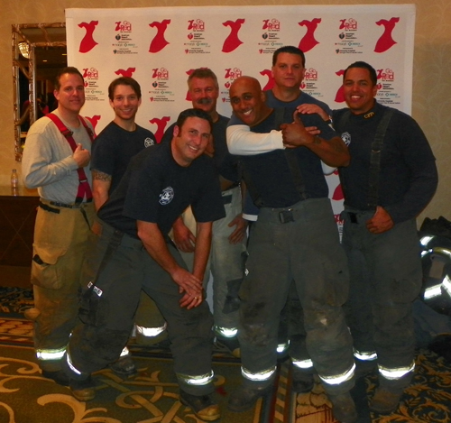 Firemen at Go Red for Women