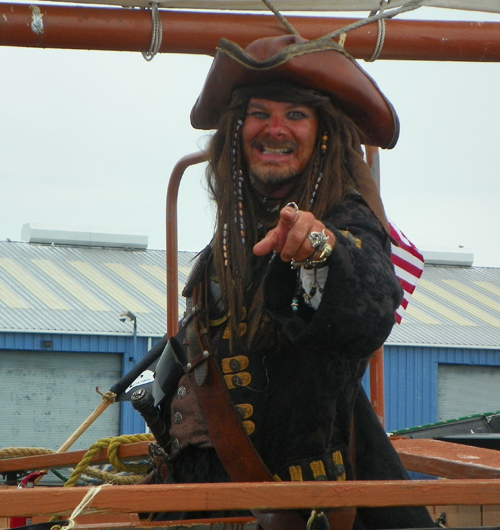 Captain Jack Sparrow pirate in Cleveland Tall Ships Festival