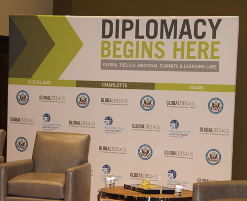Diplomacy begins here banner