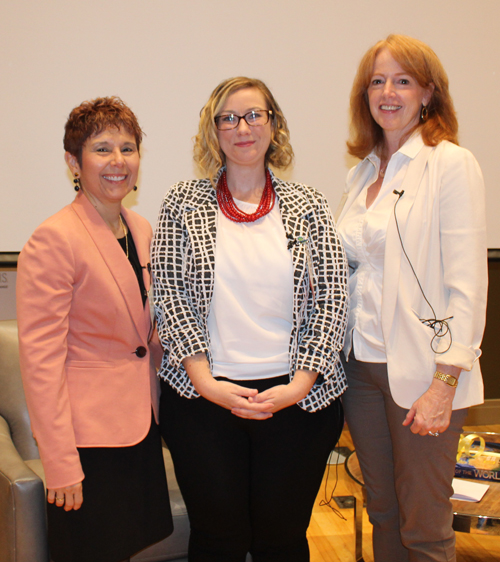 Dr. Marla Perez-Davis, Feowyn MacKinnon and Dr. Evalyn Gates