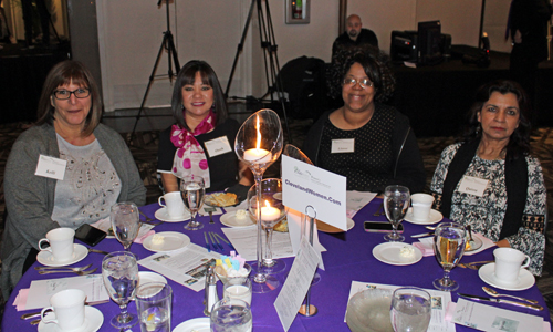 Kelli Coleman, Oahn Loi-Powell, Lloree Morah and Qaisra Haider at the ClevelandWomen.com table