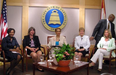 Cleveland City Club Panel - Caprice Bragg, Cindy Einhouse, Moderator Barbara Danforth, Elizabeth Oliver, and Jennifer Thomas