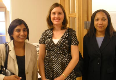 Manju Gupta of Wegman Hessler, Maggie McGrath of Cleveland Foundation and Carla Boddy of National City