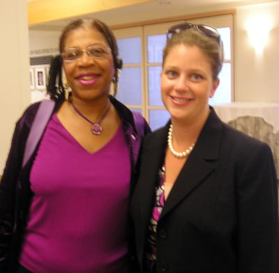 Meryl Johnson of the Cleveland Teachers Union and Meagan O'Bryan of the Rape Crisis Center