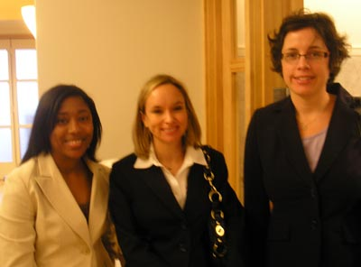 Darnella Robertson of NEORSD, Courtni Thorpe of Baker Hostetler and Julie Harris