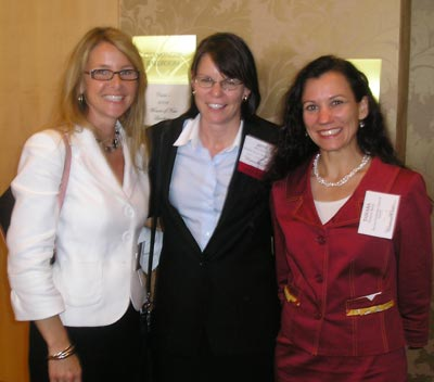 Brenda Kirk of Hyland Software, Beth Eaton of KeyBank and Tamara Karel of Benesch Friedlander