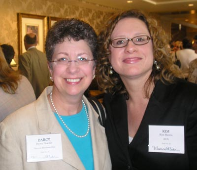 Darcy Downie of Prevent Blindness Cleveland and Kim Harris of MCPc