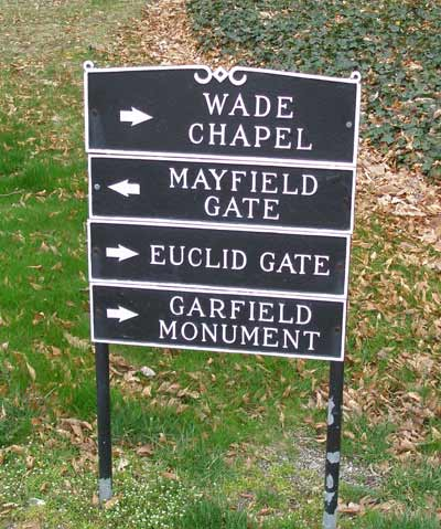 Lakeview Cemetery sign