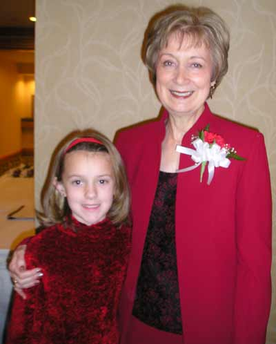 Event Chair Pat Ruffin with granddaughter Allison