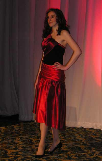Red dress from the Fashion Show