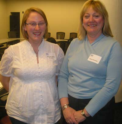 Rachel Stentz-Baugher and Paula Grooms of Cleveland WISE
