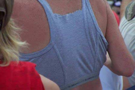 Woman's tank top made out of underwear