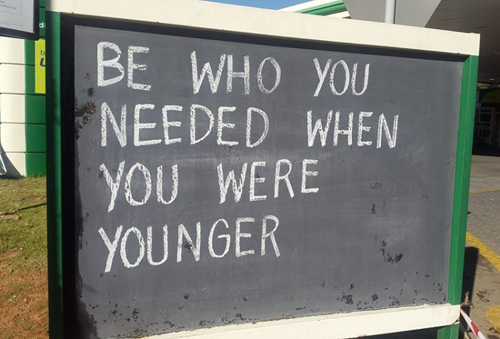 Chalkboard - be who you needed