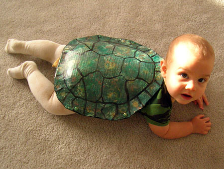 Halloween costume - baby as turtle
