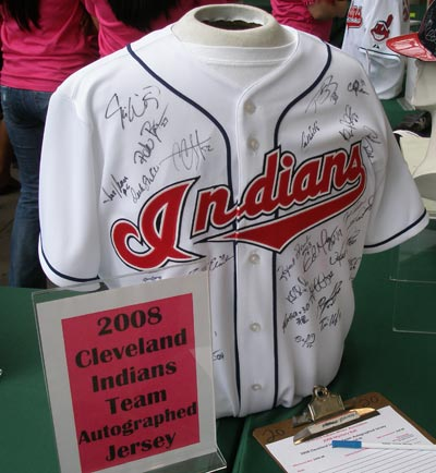 Cleveland Indians Wives Mystery Ball prize