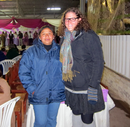 Katie Campbell with Peruvian friend