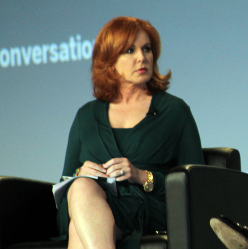 Liz Claman on stage at the Summit