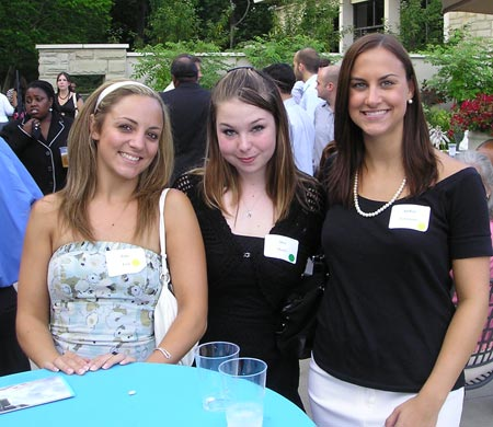 Julie Fink, Alea Moore and Andria Trivisonno of Portfolio Magazine Online at a Cleveland Young professionals event at the Botanical Gardens