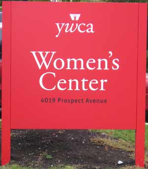 YWCA Womens Center sign