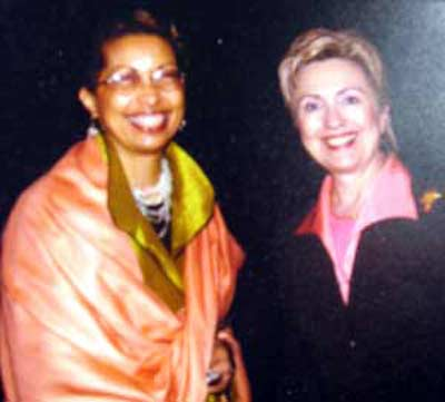 Barbara Danforth and Hillary Rodham Clinton