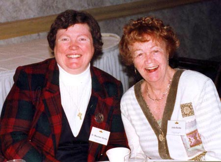 Sister Maureen Burke with mother Julia