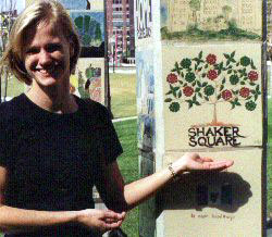 Daughter Julie with Chris King's tile