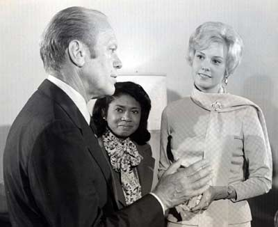 President Gerald Ford with Jenny Crimm