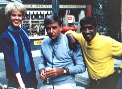 Jenny Crimm with Sammy Davis Jr and Peter Lawford