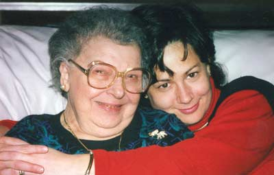 Danielle Serino with her beloved grandmother in 2001